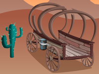 Wagon and Cactus