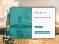 Verification Code Page
