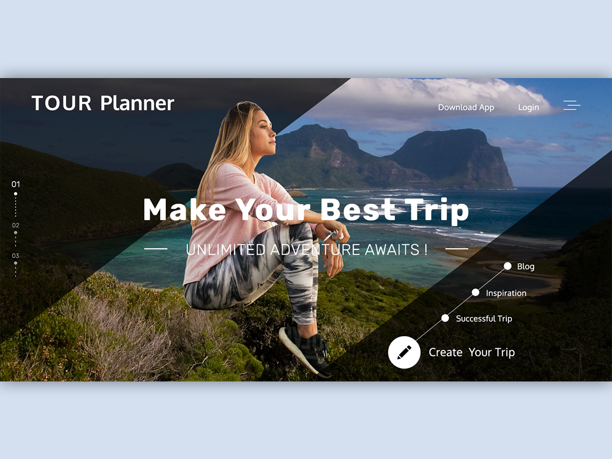 Travel Planner logo icon animation website typography design ui