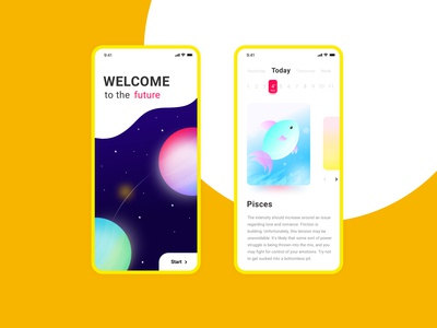 horoscope mobile app design