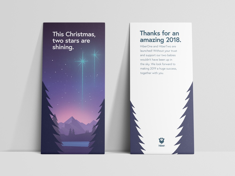 Hiber - Christmas Card christmas card flyer branding christmas