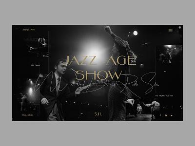 Jazz Age Show web page photo minimal ui design