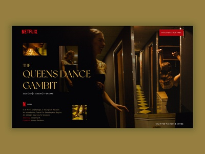 NETFLIX web page UI for new show photographer photo photography design ui ux