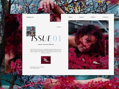 MAGLUN-AESTHETIC PHOTO MAGAZINE WEB DESIGN web branding typography ux photography photo ui minimal design