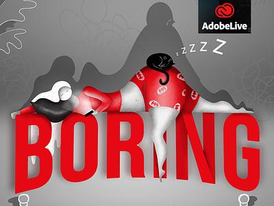 Boring illustration adobe netflix