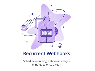 Recurrent Webhooks - Looper looper webhooks gradients illustration linework counter task meteor flat