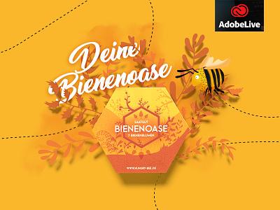 Hungry Bee - Packaging Design bei Adobe Live adobedimension adobe bee packaging bienenoase bienen hungrybee adobelive