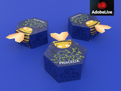 Hungry Bee - Packaging Design bei Adobe Live honeycomb packaging hungrybee bienenoase bienen bee adobelive adobedimension adobe