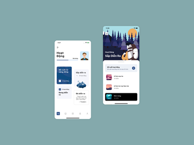 Activity. mobile app design color trend classic blue illustrator flatdesign activity mobile ui