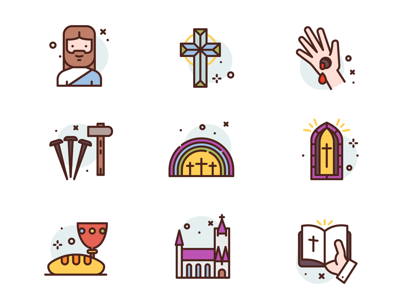 Happy Easter jesus easter christian character icon illustration icons