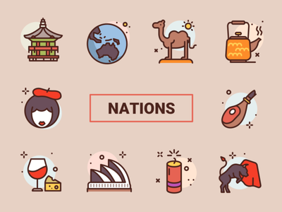 Bubblecons Nations Freebie freebie icon illustration icons free
