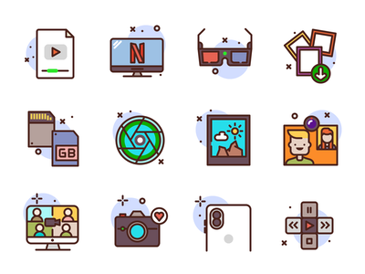 Photo & VideoIcons conference display netflix frame video photo icons