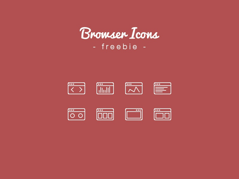 Browser Icons Freebie icon freebie browser mini 2px outline stroke path vector psd free