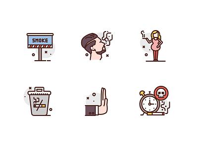 Quit Smoking smoke illustrations premium icon illustration icons