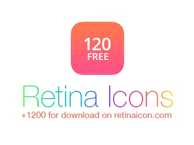 RetinaIcon Freebie retina line free psd vector path stroke outline mini freebie icons