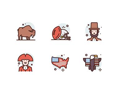 USA Icons america usa illustration premium icons