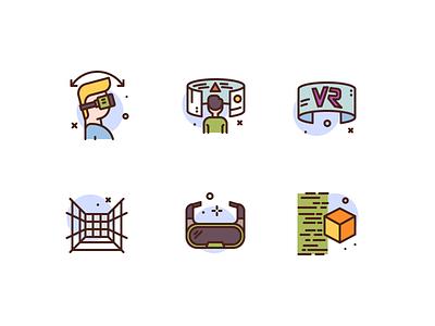 VR Icons tech vr premium icon illustration icons