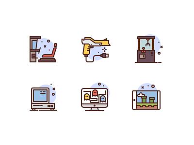 Arcade Icons arcade gaming premium illustration icons