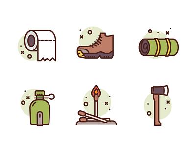 Camping Icons camping freebie premium icons