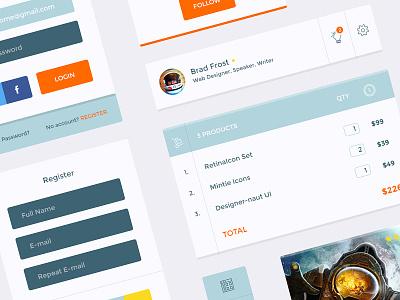 Designer-naut UI KIT Free ui kit free shop freebie exclusive interface web premium