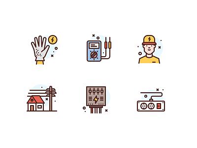 Electricity Icons electricity premium icon illustration icons