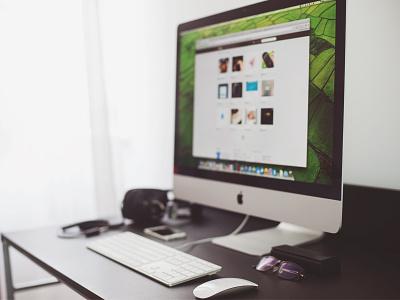 My Workspace apple macbook imac darius freelancer office desk workspace 2014 worsk-station