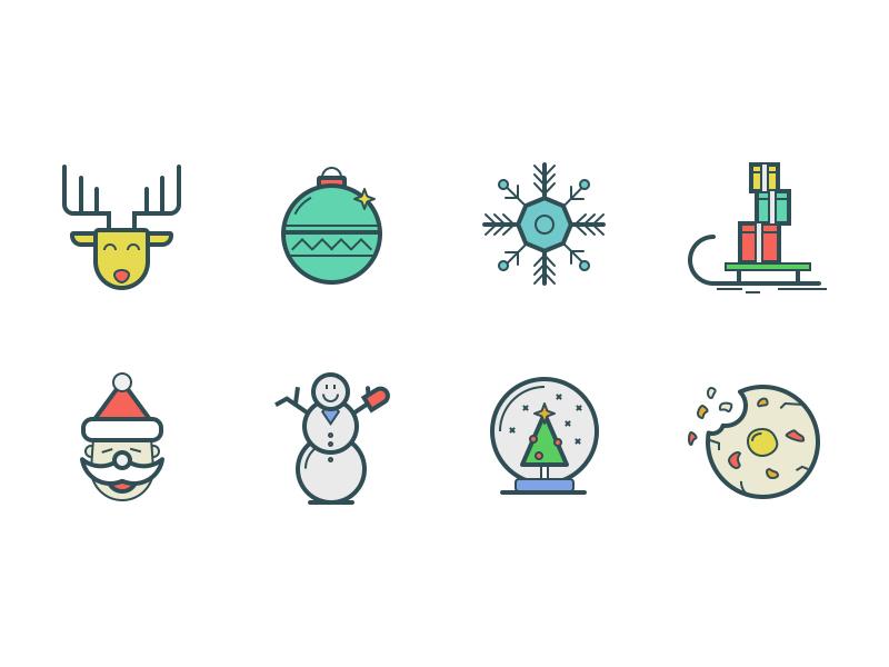 Dropicons Update premium freebie icon illustration christmas holidays set winter outline