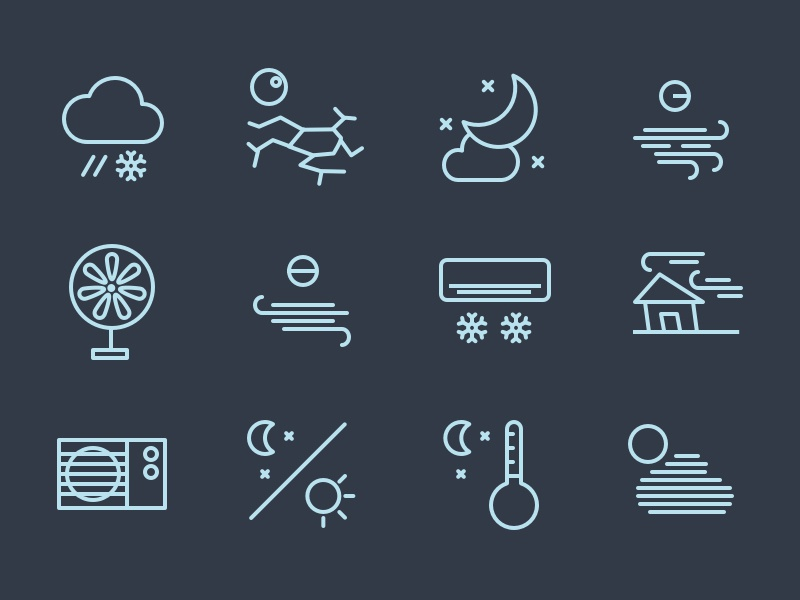 Swifticons - Weather premium icon colored set sketch weather cloud temperature moon
