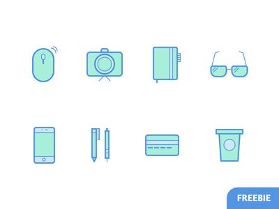 Designer's Essentials Free Icons freebie sketch free outline filled colored goodie designer gear essentials