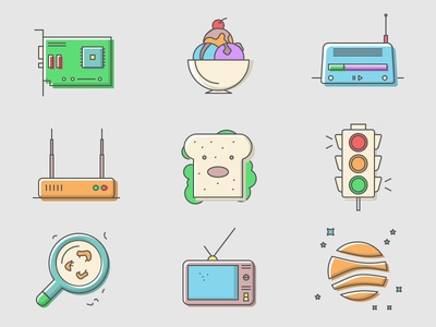 Happycons - 40 Free icons color illustration icons freemium free