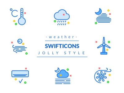 Jolly Weather icons premium swifticons blue decor color free monocolor outline