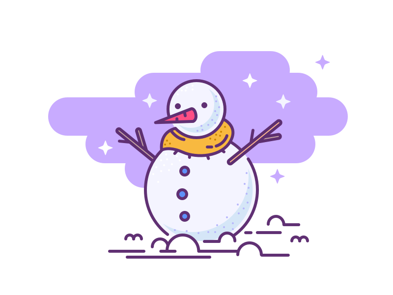 001. Snowman cold snow christmas icon illustration winter snowman