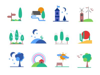 Landscape Icons Freebie