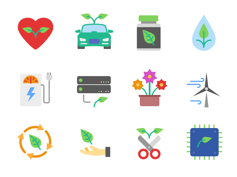 Ecology icons freebie