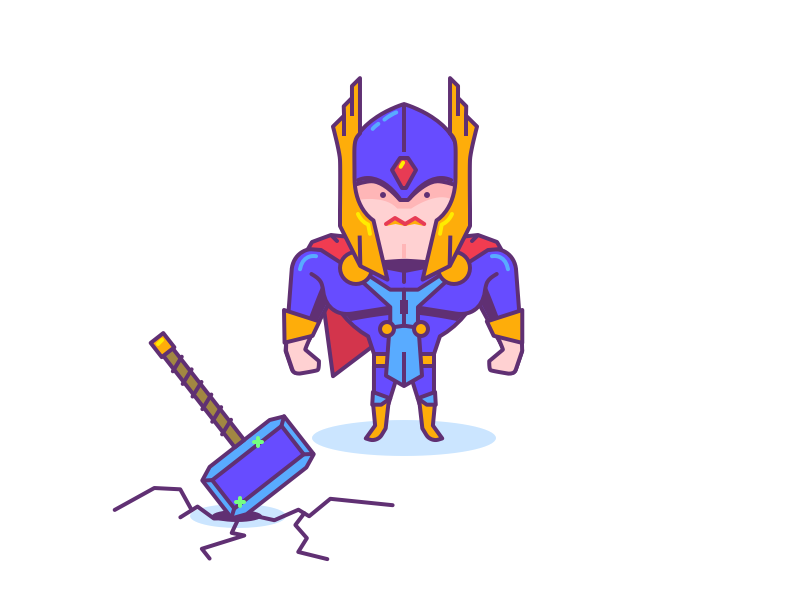 Thor illustration comics hammer hero avengers character superhero