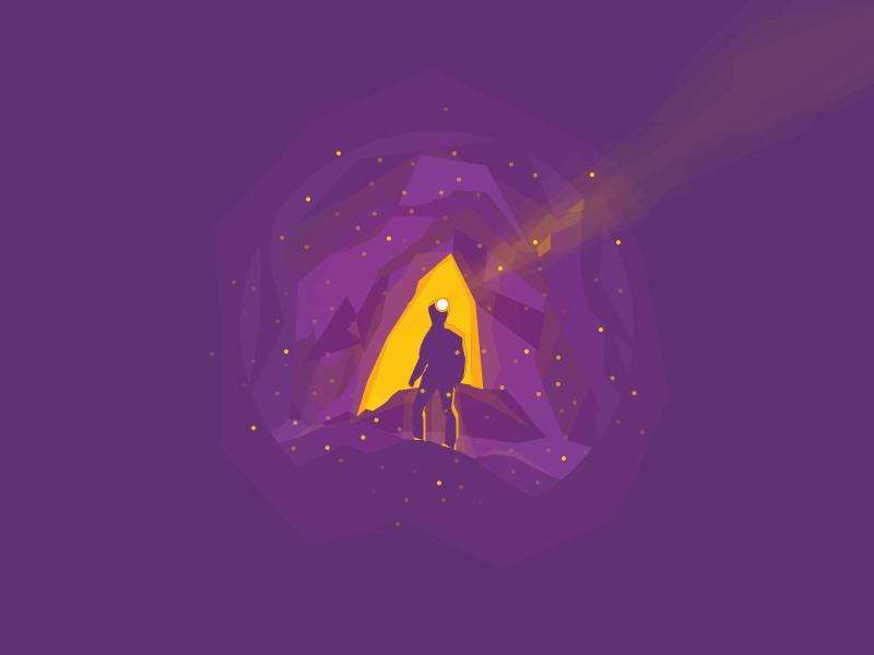 Cave mine explore illustration negative light darkness cave