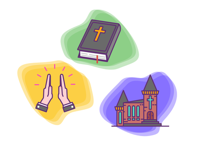 Christianity Icons prayer pray hands holy book bible church christianity religion