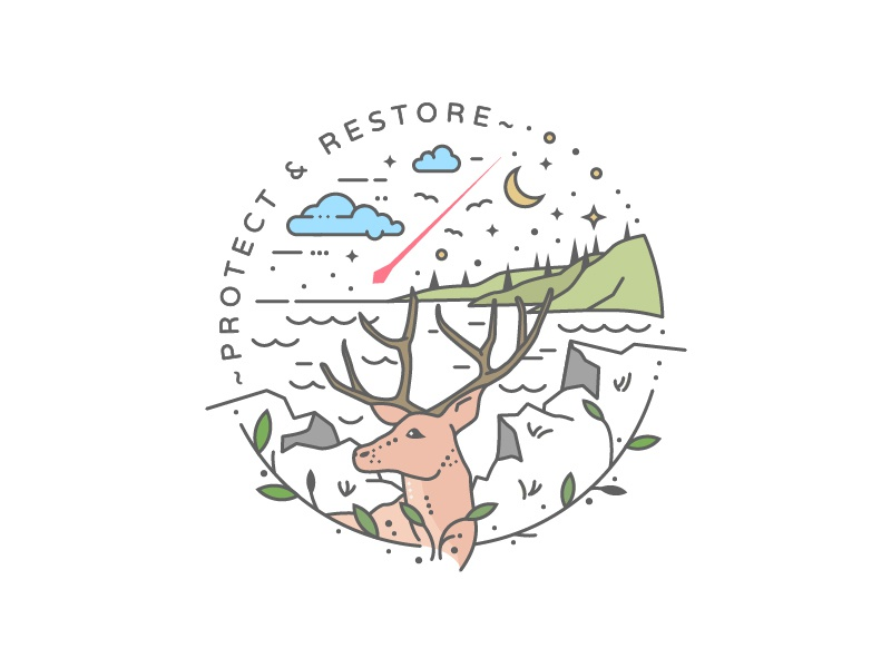 Protect & Restore couds mountains nature hunting deer forest restore protect