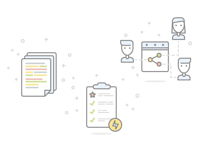 Documents, Todo, Share list document user link share illustrations icons