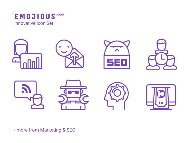 Emojious - Line Style smile tools marketing seo premium icons