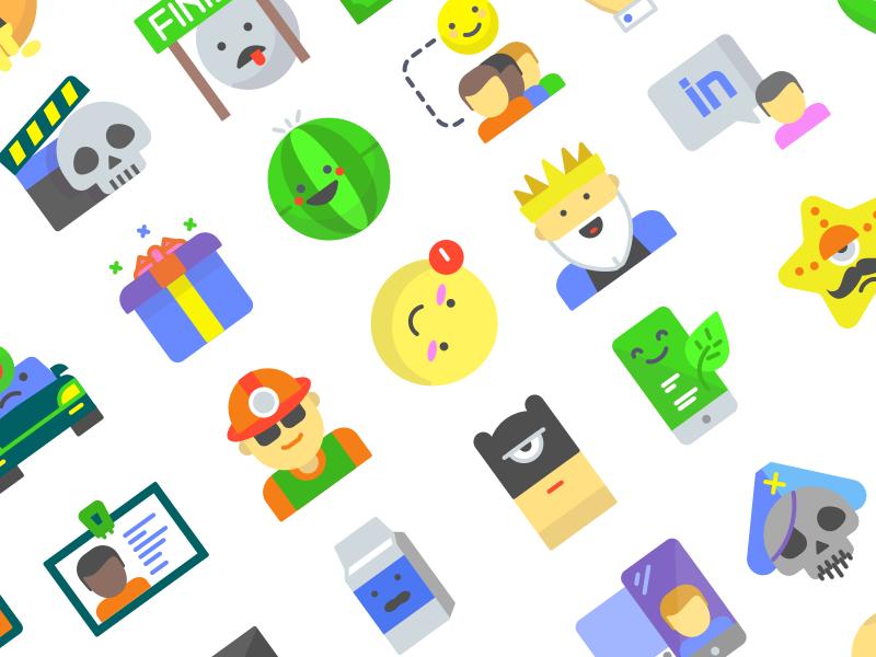 Emojious 100+ flat icons Freebie flat premium freebie icons