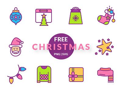 Christmas Freebie download christmas holidays winter santa freebie icons