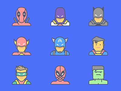 Emojious Superheroes marvel dccomics superhero hero batman superman