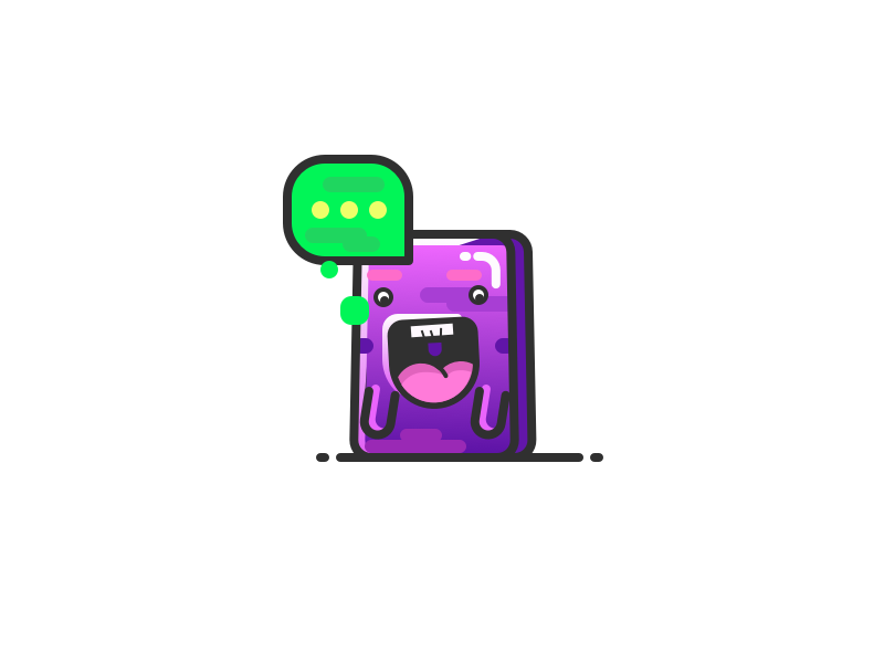 Chat with me chat conversation message doodle illustration