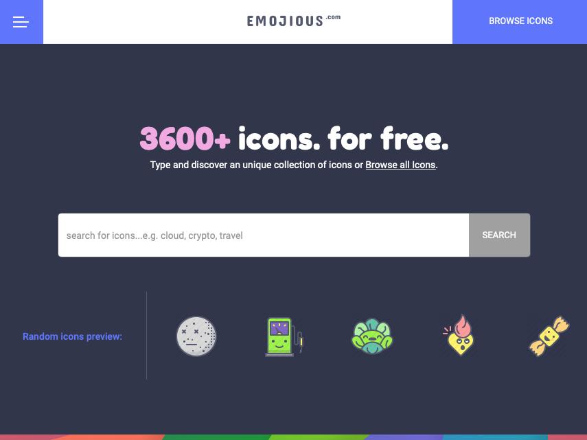 Emojious.com - Free icons search illustrations freebie premium icon icons