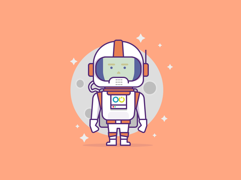 Astronaut Character helmet space astronaut character illustration