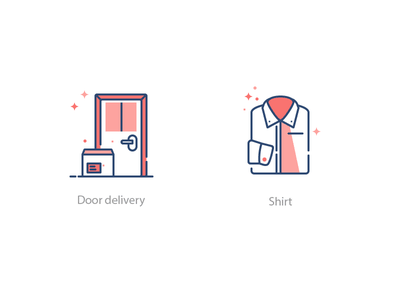 Tailor Icon Set 3 tailor delivery box exit door shirt illustration icon