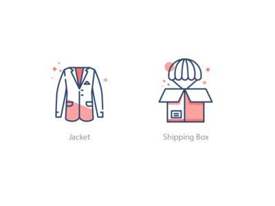 Tailor Icon Set 4 shipping management costume jacket shipping delivery box illustration icons