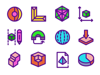 3D Shapes Icons