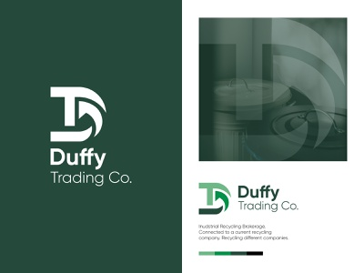 DT Logo (Duffy Trading) minimalist clean new industrial brokerage arrow recycle green nature logo design abstract logo graphics design brand identity letter logo logo branding flat logo recycling logo dt logo letter mark logo